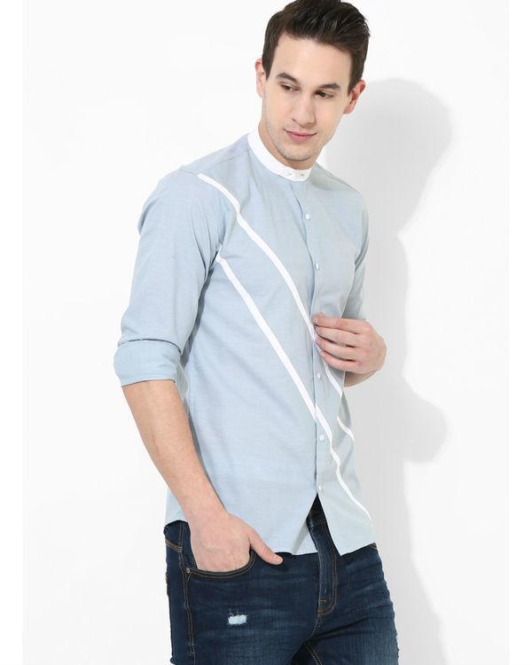Sky blue duo stripe shirt 2