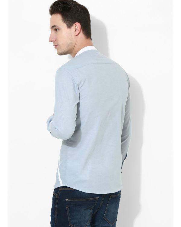 Sky blue duo stripe shirt 1