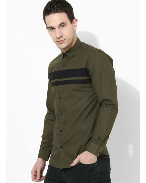 Olive Black Stripe Club Shirt 2
