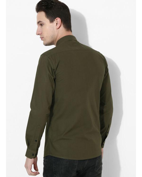 Olive Black Stripe Club Shirt 1