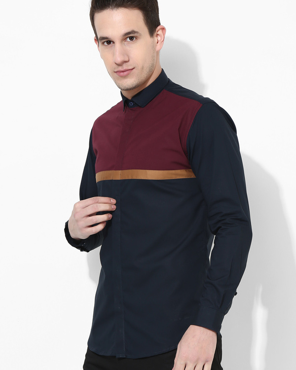 Color Block Panel Shirt 2