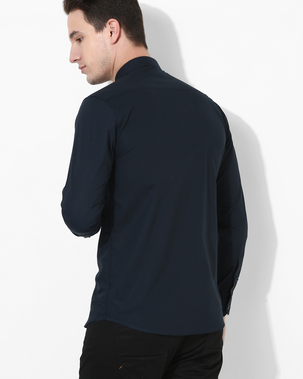 Color Block Panel Shirt 1