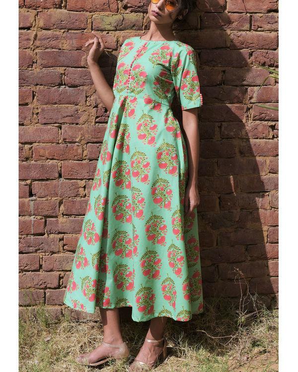 Pastel pistachio dress 1