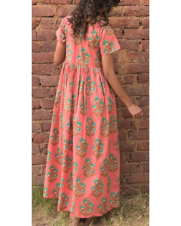 Pastel peach dress 1