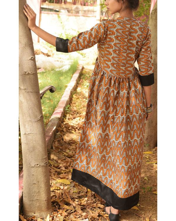 Burnt brown dress 1