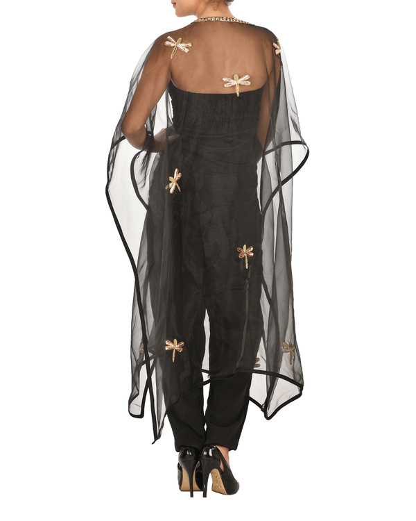 Jumpsuit with dragon fly cape 2