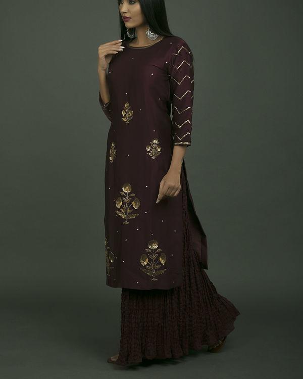 Embroidered baigani phool set 2
