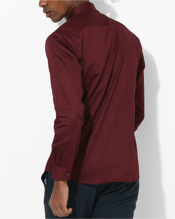 Maroon duo panel shirt 1