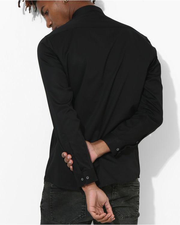 Black and grey sharp cut shirt 1