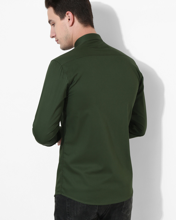 Olive and black sharp cut shirt 1
