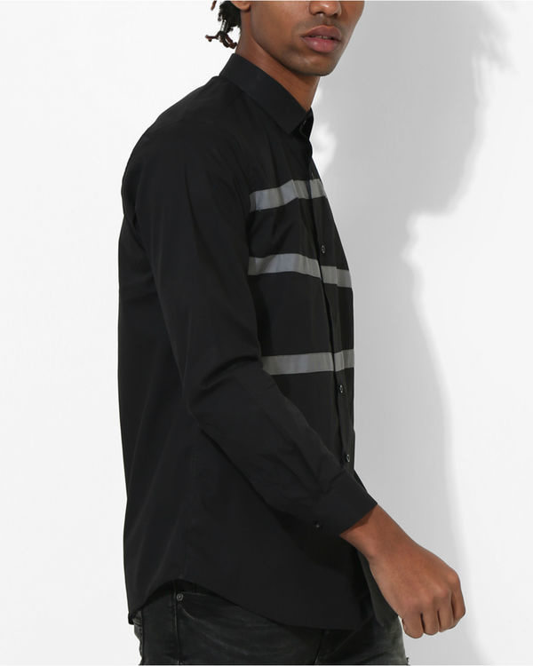 Panel Black Three Stripes shirt 2
