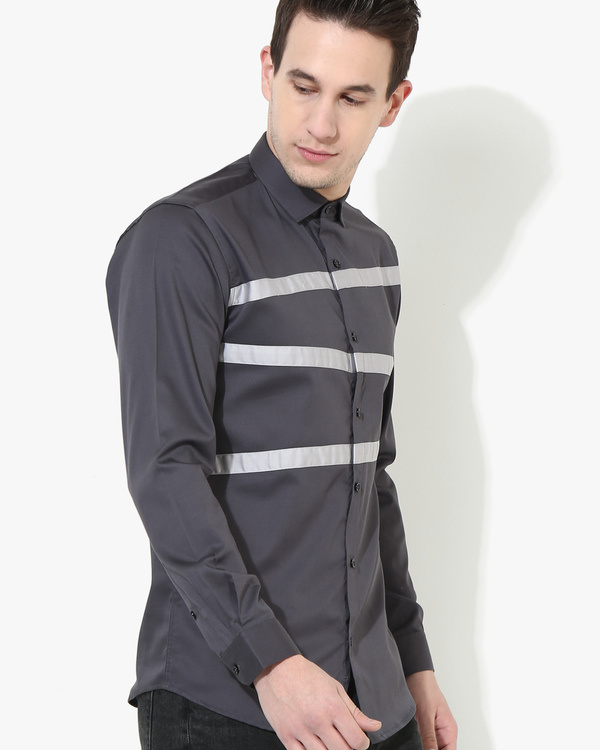 Panel Grey Three Stripes shirt 1