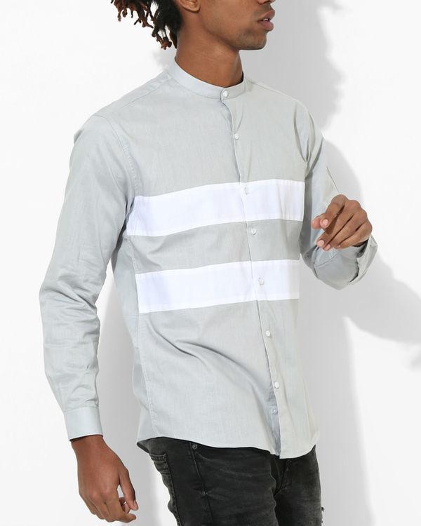 Light Grey Two Stripe shirt 2