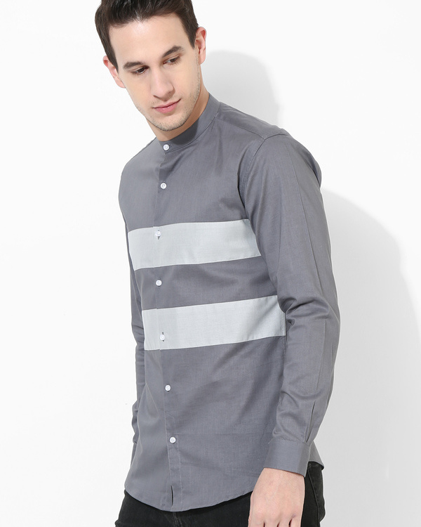 Shades of grey Stripe shirt 1