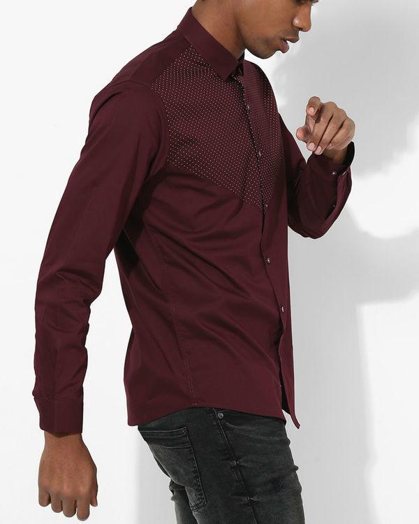 Maroon Polka Dot Shirt 2