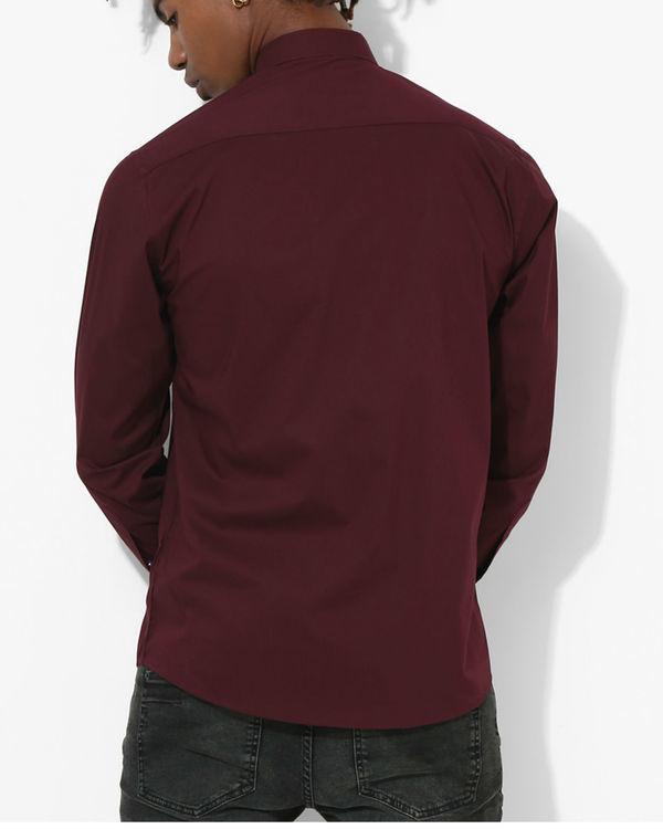 Maroon Polka Dot Shirt 1