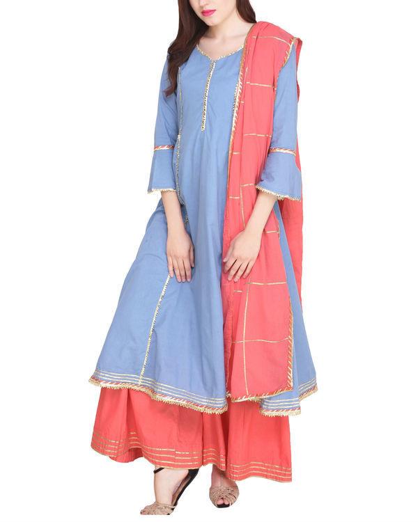 Blue and pink princess tunic set 2