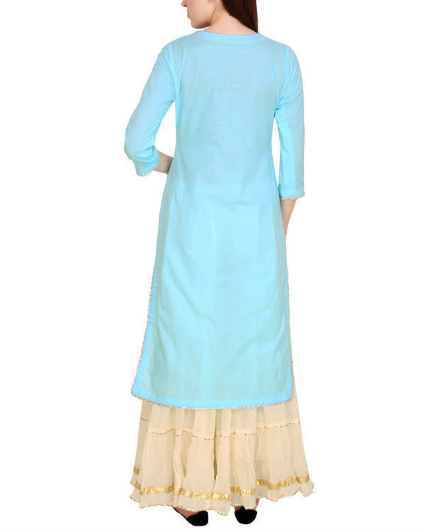 Sky blue kurta sharara set 2