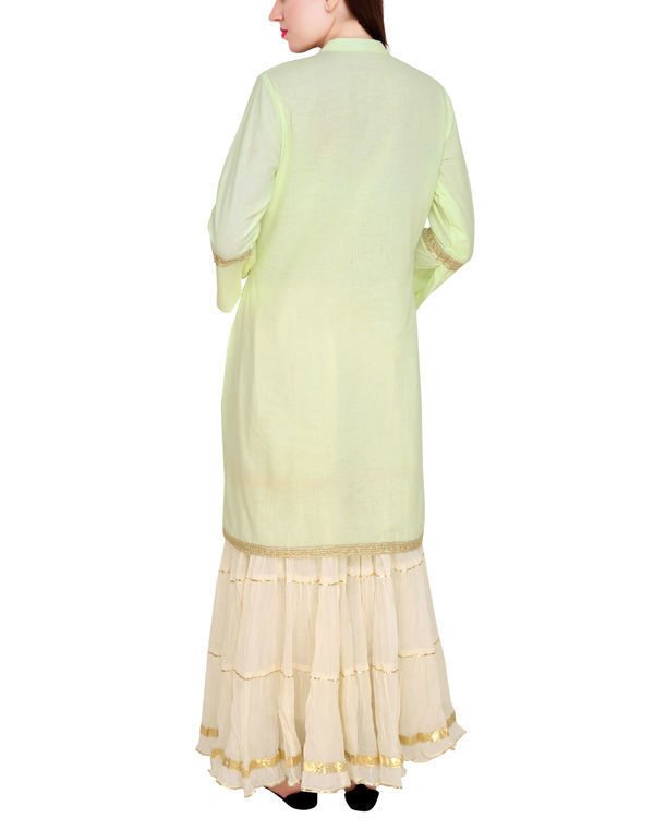 Mint and off white sharara set 2