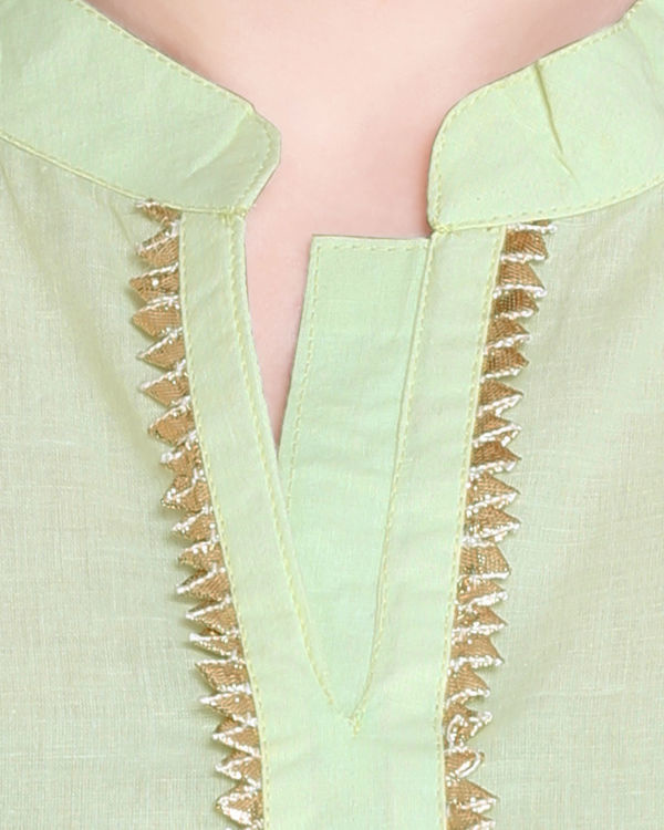 Mint and off white sharara set 1