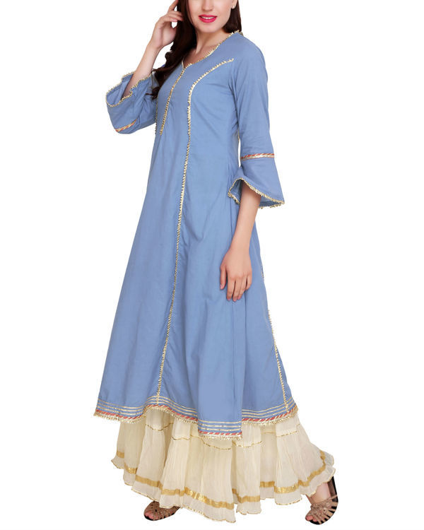 Blue princess tunic set 3