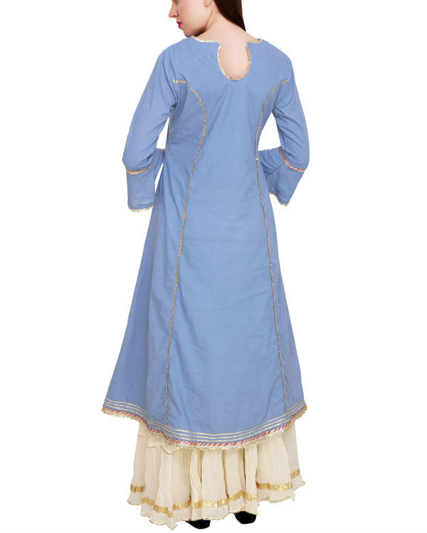Blue princess tunic set 2
