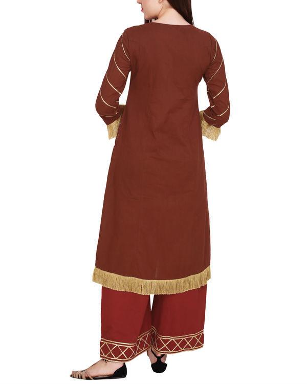 Marsala tunic with palazzo 2