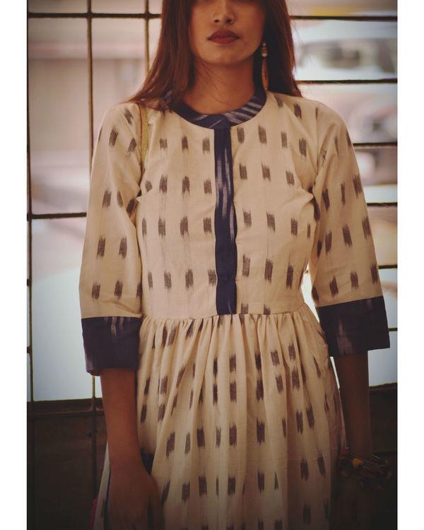 Gathered ikat dress 1