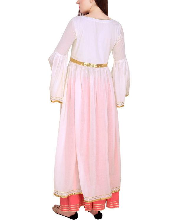 Off white tunic set with dupatta 3