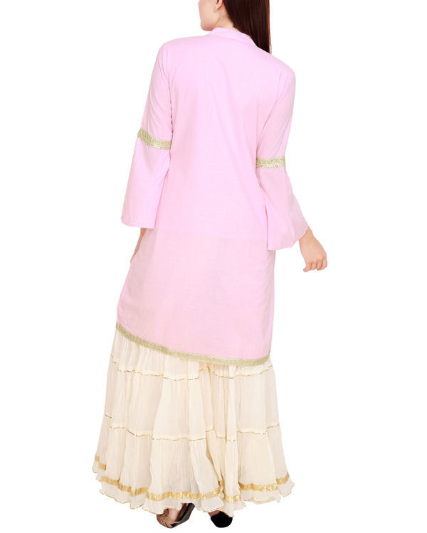 Pale pink and off white sharara set 2