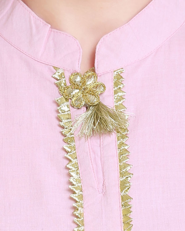 Pale pink and off white sharara set 1