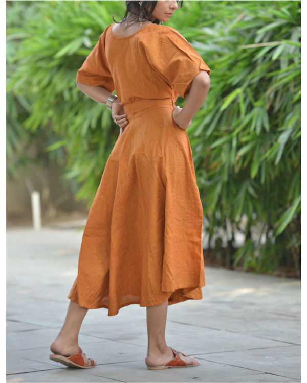 Orange kaftan dress 2