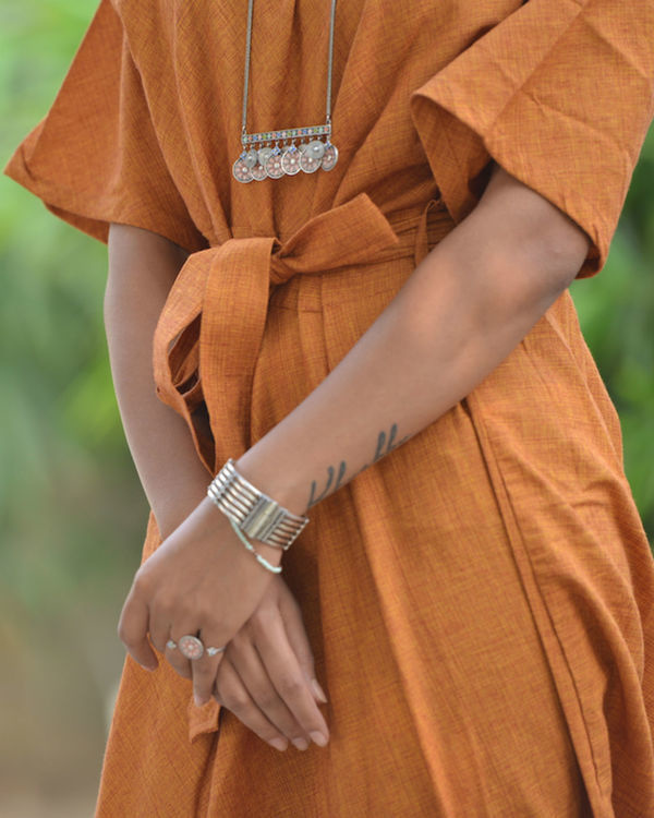 Orange kaftan dress 1