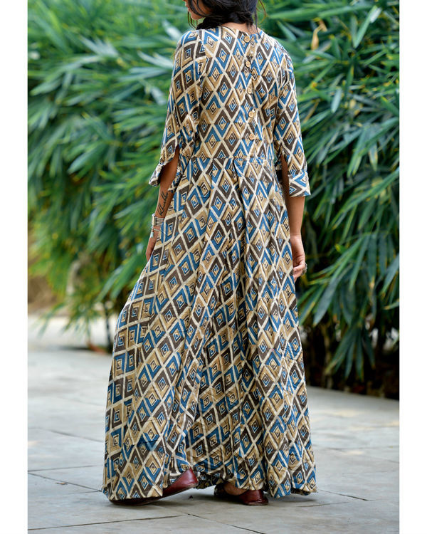 Diamond maxi flared dress 2