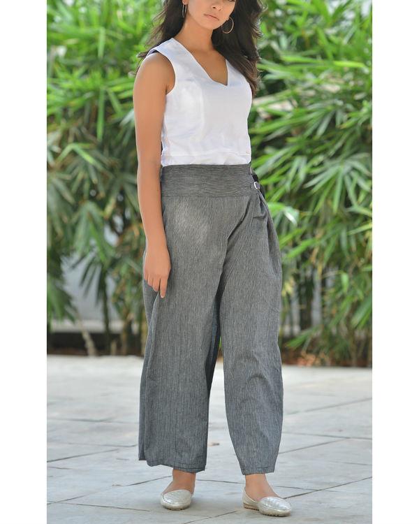 Grey palazzo pants 1