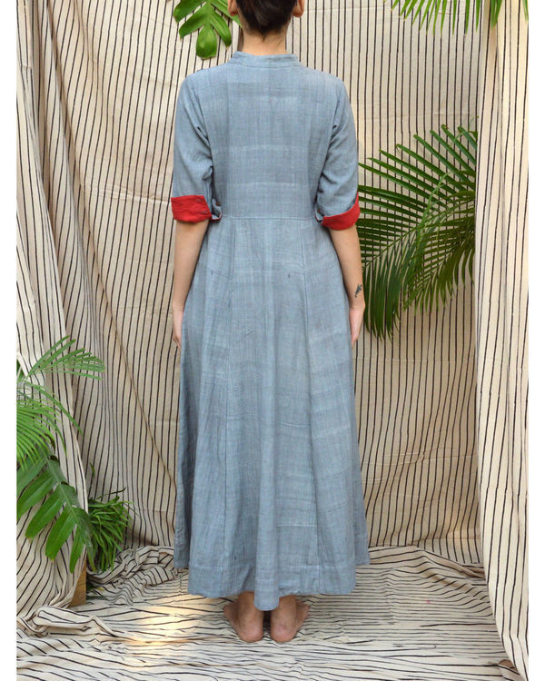 Applique yoke maxi dress 1