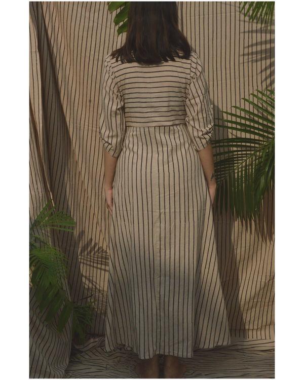 Off-white striped shirt dress 1