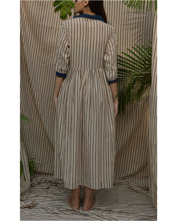 Off white coat maxi dress 1
