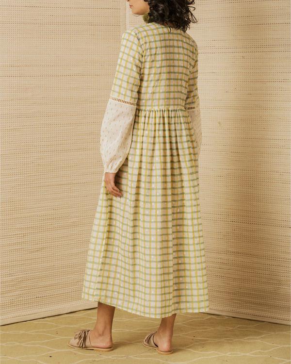 Hand Block Peasant Dress 1