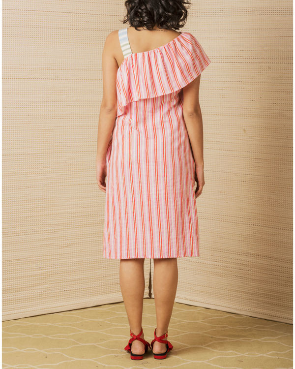 Striped One Shoulder Dress 2