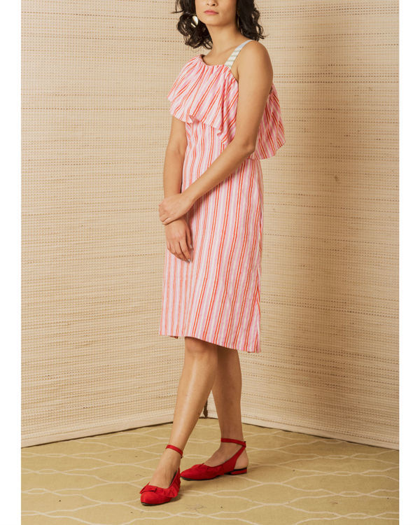 Striped One Shoulder Dress 1