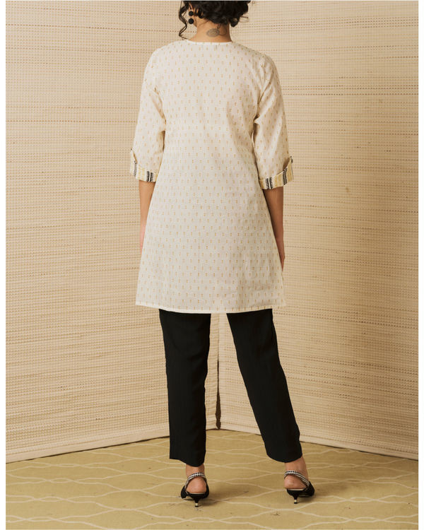 Beige Pocket Kurta  2