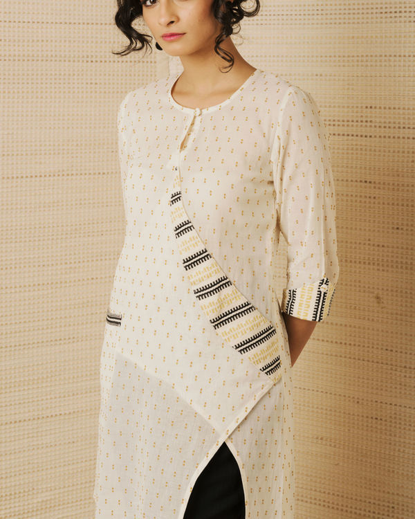 Beige Pocket Kurta  1
