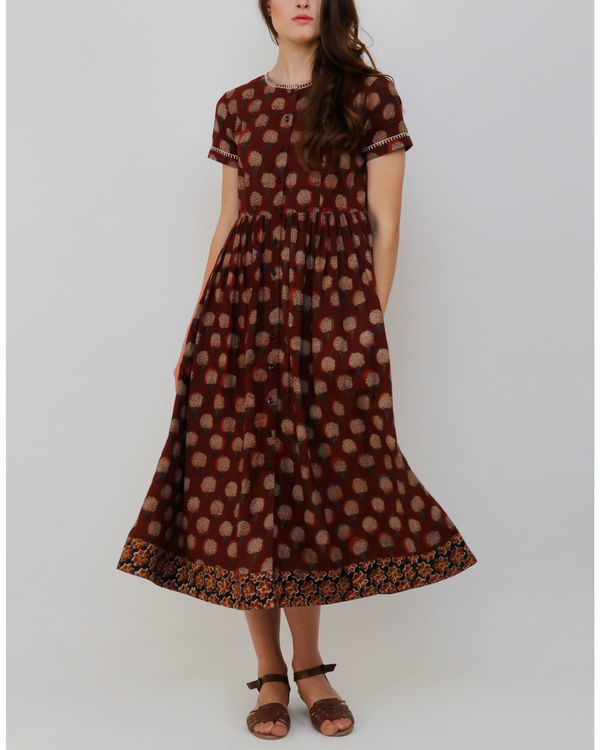 Rust Gambla Buti Dress 2