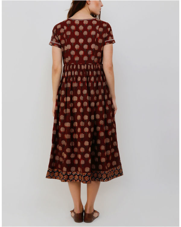 Rust Gambla Buti Dress 1