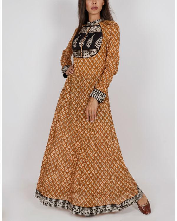 Mustard Yellow Kalidar Dress 2