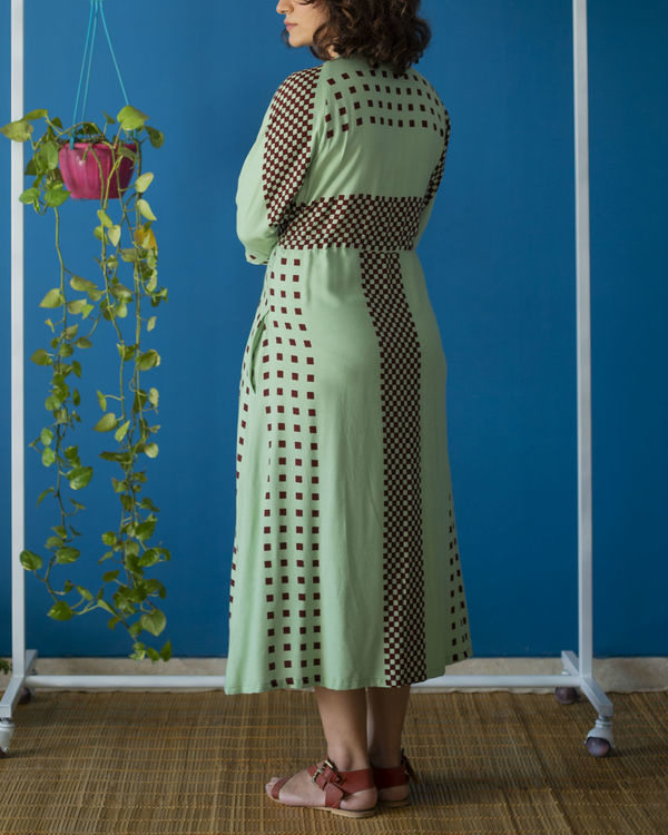 Drawstring Mint Dress 3