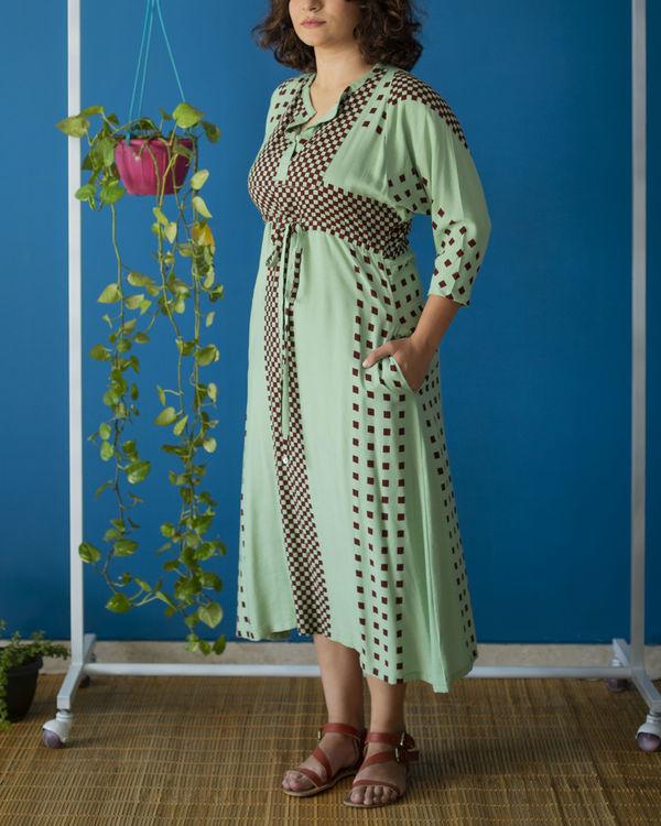 Drawstring Mint Dress 2