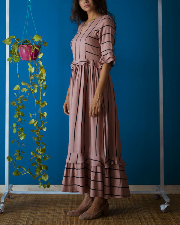 Rosy Brown Brunch Dress 2